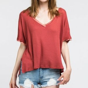 NWT- ADORA MY BELOVED RUST T-SHIRT